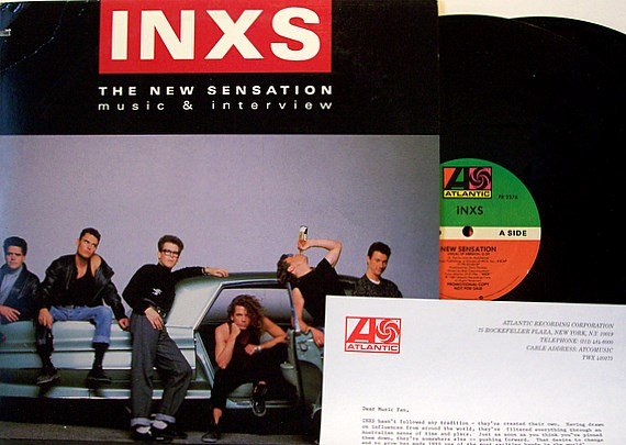 Inxs - Music & Interview The New Sensation - Promo Only Vinyl 2 LP Record + Inserts - Rock