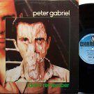 "Gabriel, Peter - I Don't Remember - UK Pressing - Vinyl 12"" Single Record - Rock"