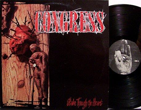 Congress - Stake Through The Heart - Vinyl LP Record + Insert - Rock