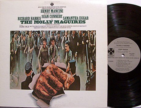 Molly Maguires, The - Soundtrack - Vinyl LP Record - Sean Connery / Henry Mancini - OST