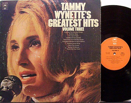Wynette, Tammy - Signed - Greatest Hits Volume 3 - Autographed - Country
