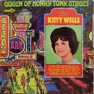 Wells, Kitty - Queen Of Honky Tonk Street - Sealed Vinyl LP Record - Mono - Country