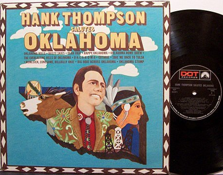 Thompson, Hank - Hank Thompson Salutes Oklahoma - Vinyl LP Record - Promo - Country