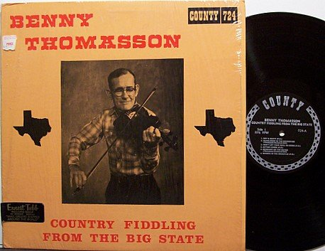 Thomasson, Benny - Country Fiddling From The Big State - Vinyl LP Record - Bluegrass