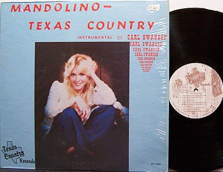 Swanson, Carl - Mandolino Texas Country - Vinyl LP Record - Instrumental Country