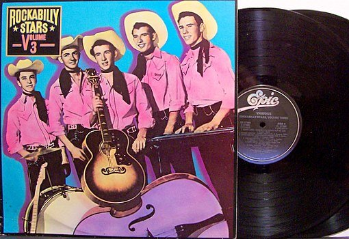 Rockabilly Stars Volume 3 - Vinyl 2 LP Record Set - Various Artists - Promo - Country
