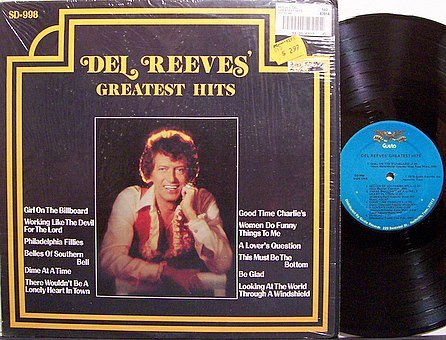Reeves, Del - Del Reeves Greatest Hits - Vinyl LP Record - Country