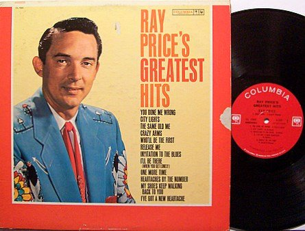 Price, Ray - Ray Price's Greatest Hits - Vinyl LP Record - Country