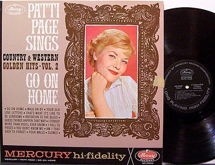 Page, Patti - Sings Go On Home - Vinyl LP Record - Country
