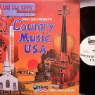 Opryland Presents Country Music USA - 1980 Cast Album - Vinyl LP Record - Nashville Theme Park
