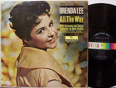 Lee, Brenda - All The Way - Vinyl LP Record - Country