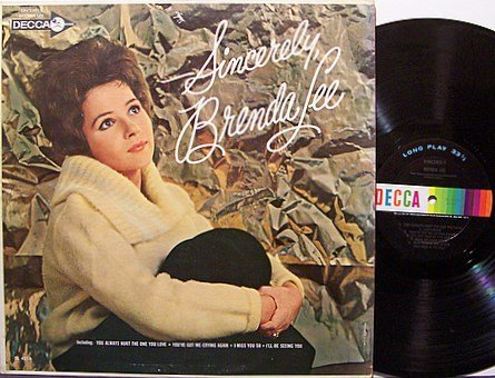 Lee, Brenda - Sincerely - Vinyl LP Record - Country