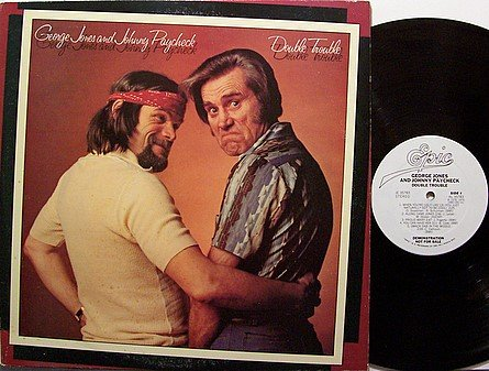 Jones, George And Johnny Paycheck - Double Trouble - Vinyl LP Record - White Label Promo - Country