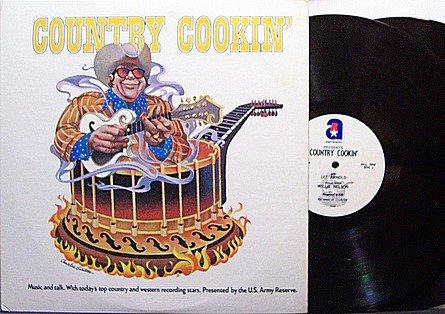 Country Cookin' US Army Radio Show - Vinyl 2 LP Record Set - November 1973 - 4 Programs