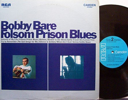 Bare, Bobby- Folsom Prison Blues - Vinyl LP Record - Country