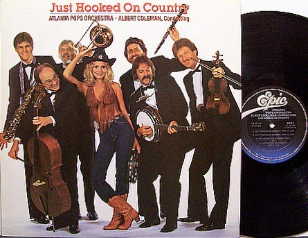 Atlanta Pops Orchestra - Just Hooked On Country - Vinyl LP Record - Promo
