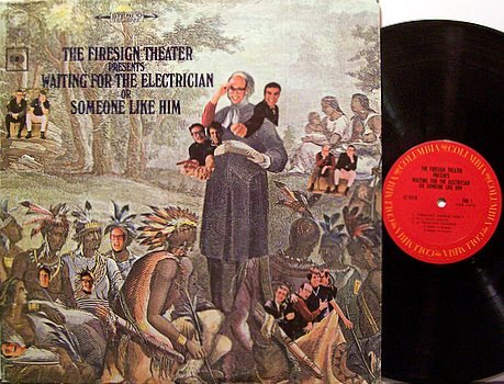 Firesign Theater, The - Presents Waiting For The Electrician - Vinyl LP Record + Poster - Comedy
