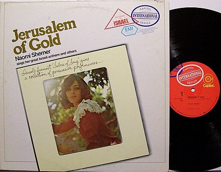 Shemer, Naomi - Jerusalem Of Gold - Vinyl LP Record - World Music Israeli Israel