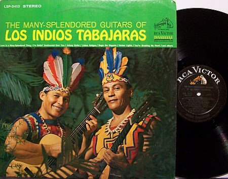Los Indios Tabajaras - The Many Splendored Guitars - Vinyl LP Record - World Music Brazil