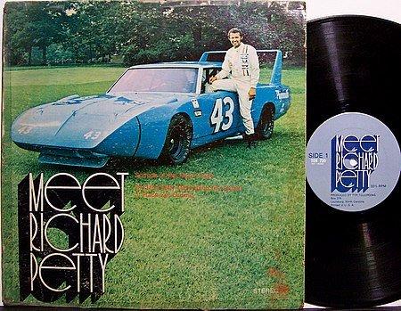 Meet Richard Petty - Vinyl LP Record - 1970 Plymouth Road Runner Superbird - Racing Sports