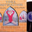Yoga Instruction For Relaxation - Vinyl LP Record - Meditation Odd Unusual Weird