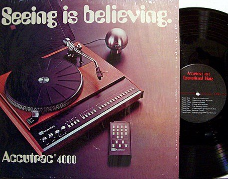 Turntable Demonstration Record Accutrac 4000 - Seeing Is Believing - Vinyl LP - Odd Unusual Weird