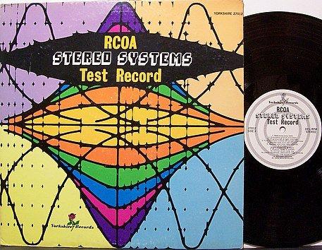 RCOA Stereo Systems Test Record - Vinyl LP - Audio Hi Fi Odd Unusual Weird