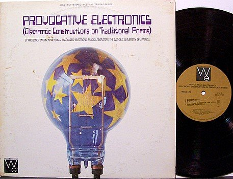 Provocative Electronics - Constructions On Traditional Forms - Vinyl LP Record - Moog Electronic