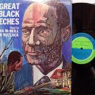 Great Black Speeches - Vinyl 2 LP Record Set - Slavery Slave Art Cover - Spoken Word