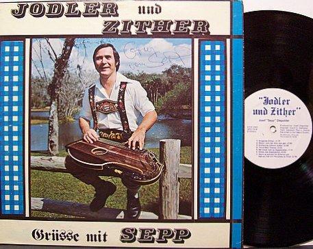 Diepolder Josef Sepp Jodler And Zither Signed Vinyl