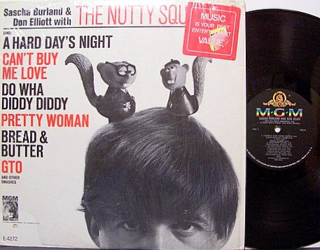 Burland, Sascha & Don Elliott With The Nutty Squirrels - Sing A Hard Day's Night - Vinyl LP Record