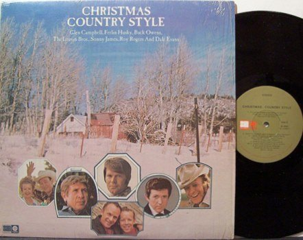 Christmas Country Style - Vinyl LP Record - Various Artists Louvin Brothers / Roy Rogers etc