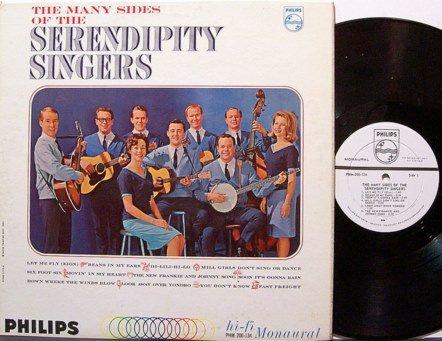 Serendipity Singers, The - Many Sides Of - Vinyl LP Record - White Label Promo - Mono - Folk