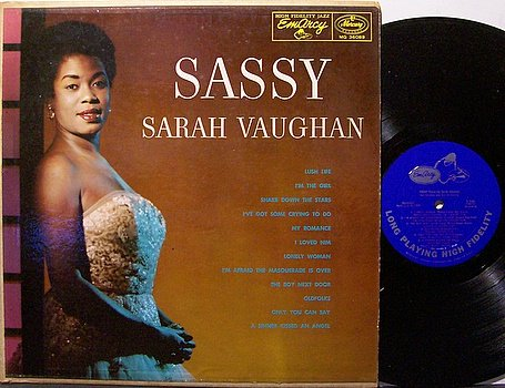 Vaughan, Sarah - Sassy - Vinyl LP Record - Emarcy Mono Deep Groove - Jazz Vocal