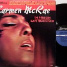 McRae, Carmen - In Person San Francisco - Vinyl LP Record - Mc Rae - Jazz