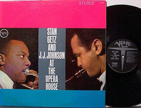 Getz, Stan And J.J. Johnson - At The Opera House - Vinyl LP Record - Jazz