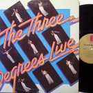 Three Degrees, The - Live - Vinyl LP Record - Promo - R&B Soul