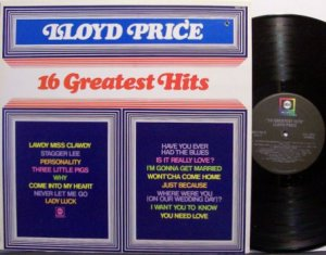 Price, Lloyd - 16 Greatest Hits - Vinyl LP Record - R&B Soul