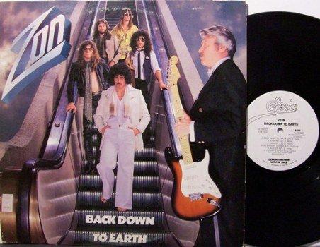 Zon - Back Down To Earth - Vinyl LP Record - White Label Promo - Rock