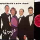 "Wings, Paul McCartney And - Goodnight Tonight - Vinyl 12"" Single Record - Disco Rock"