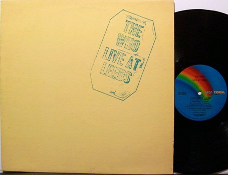 Who, The - Live At Leeds - Vinyl LP Record - Rock