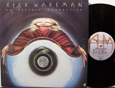 Wakeman, Rick - No Earthly Connection - Vinyl LP Record + Insert - Yes - Rock