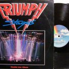 Triumph - Stages - Vinyl 2 LP Record Set - Live - Rock