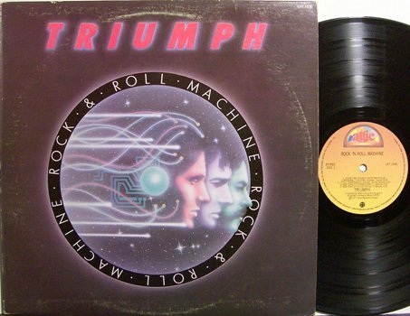 Triumph - Rock & Roll Machine - Canada Pressing - Vinyl LP Record -Rock