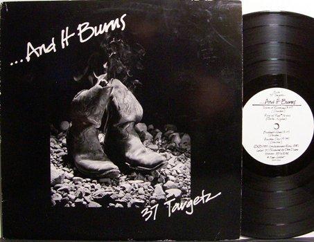 37 Targetz - And It Burns - Vinyl LP Record + Press Kit - Nashville Rock