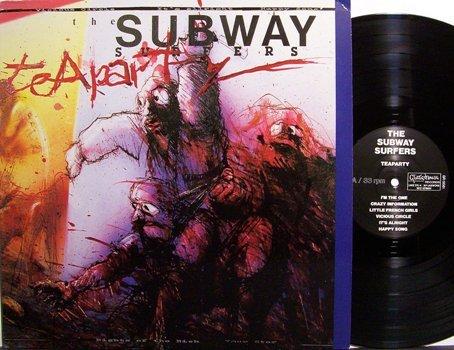 Subway Surfers, The - Teaparty - Vinyl LP Record + Press Kit / Photo - Rock