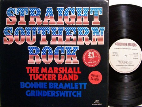 Straight Southern Rock - Various Artists - UK Pressing - Vinyl LP Record