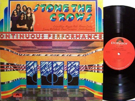 Stone The Crows - Ontinuous Performance - Vinyl LP Record - Rock
