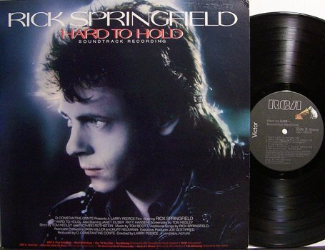 Springfield, Rick - Hard To Hold Soundtrack - Vinyl LP Record - Rock