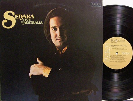 Sedaka, Neil - Live In Australia - Vinyl LP Record - Pop Rock